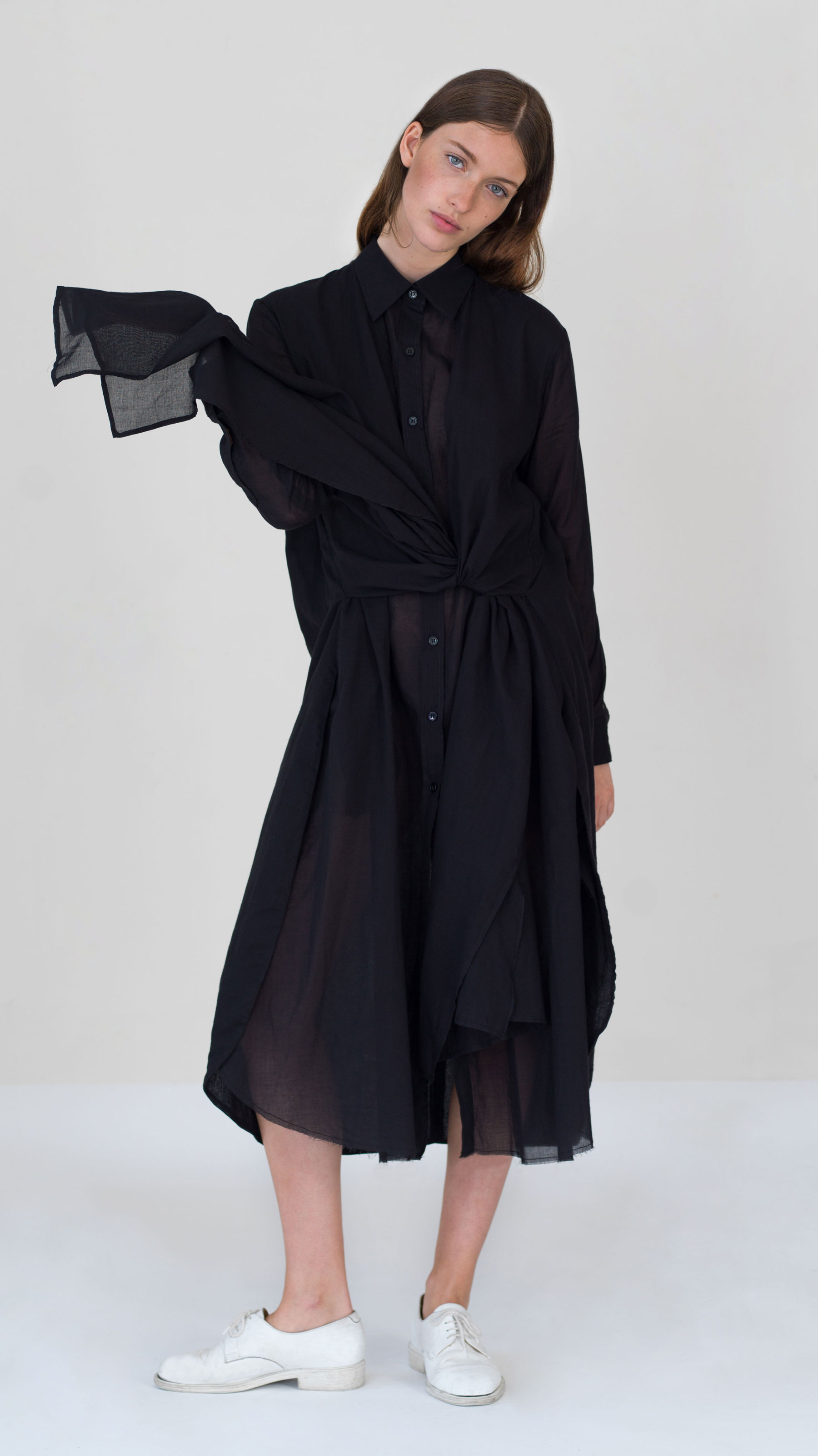 DADA_DIANE_DUCASSE_Dress_Shirt_Knotted_Black_1
