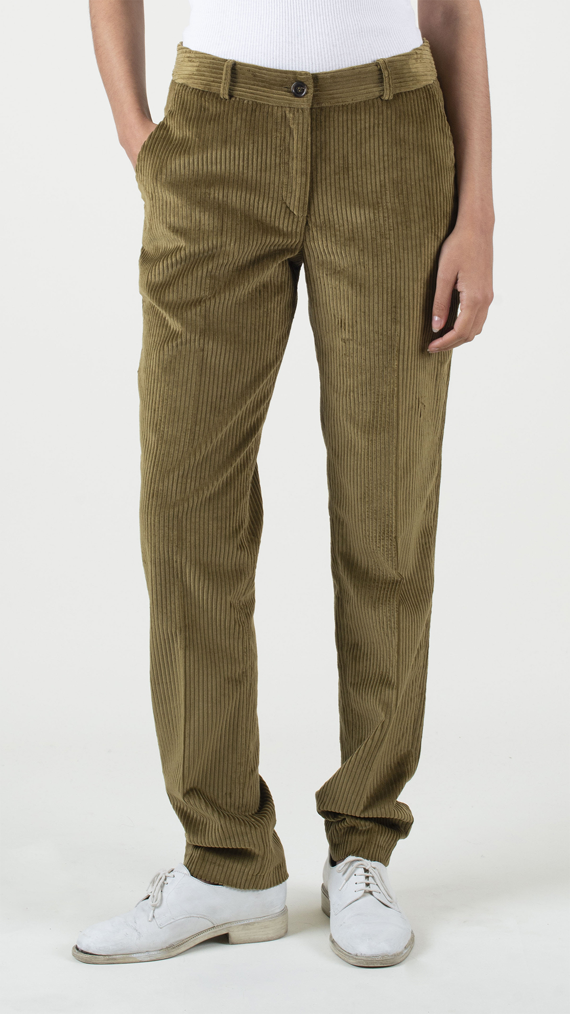 DA DA-Diane-Ducasse-pantalon-slim-velours-bronze-face