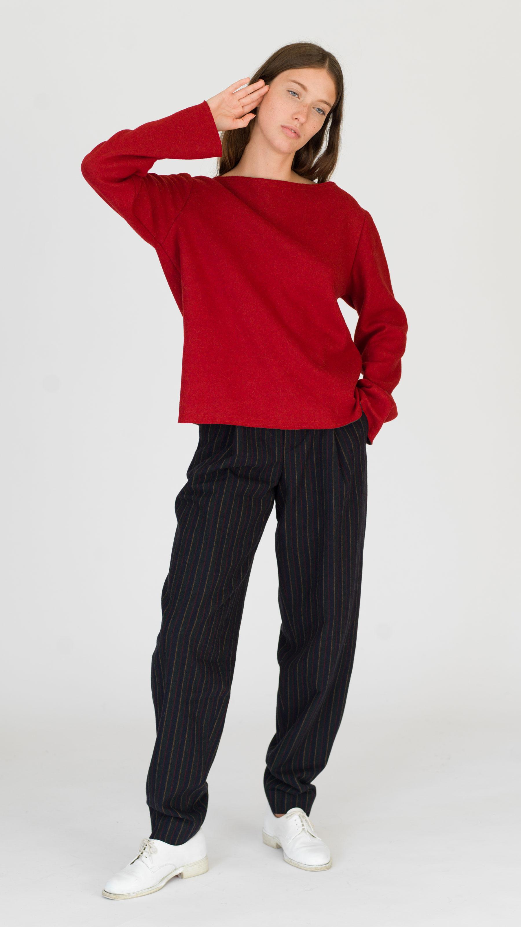 dada-diane-ducasse-pull-bateau-jersey-rouge-khaki-ah-17-face