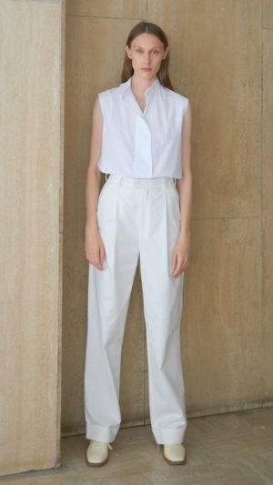 Pantalon droit Jules coton blanc