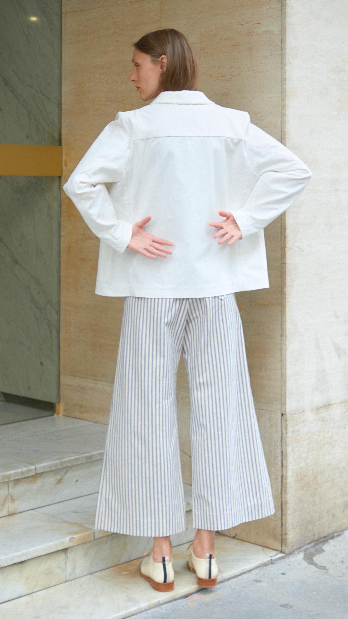 Veste de travail coton blanc DA/DA Diane Ducasse