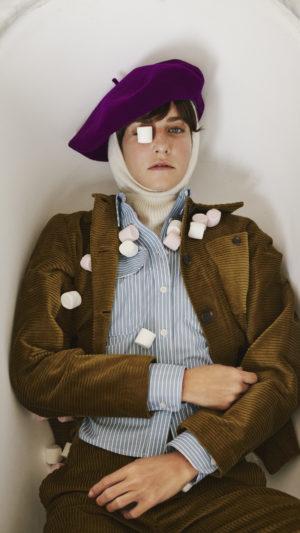 DADA-Diane-Ducasse-AH21-veste-travail-chemise-boyscout-velours-bronze-popeline-coton-rayure