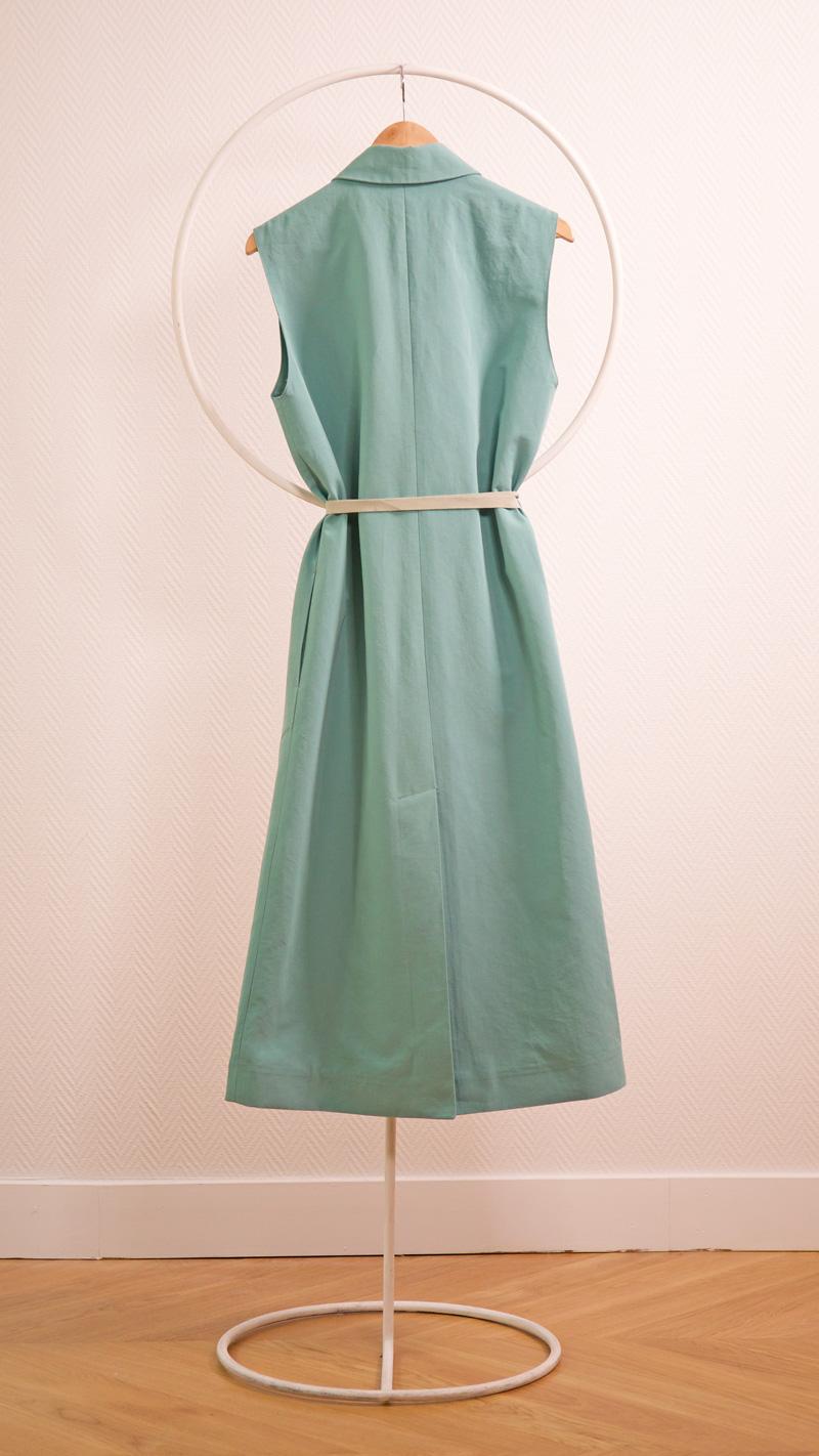 DADA-DIANE-DUCASSE-robe-tailleur-coton-lin-menthe-nouee-dos-2