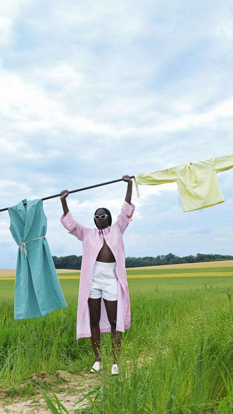 DADA-Diane-Ducasse-PE21-robe-oversized-raye-orange-blanche-menthe-bloue-jaune-2