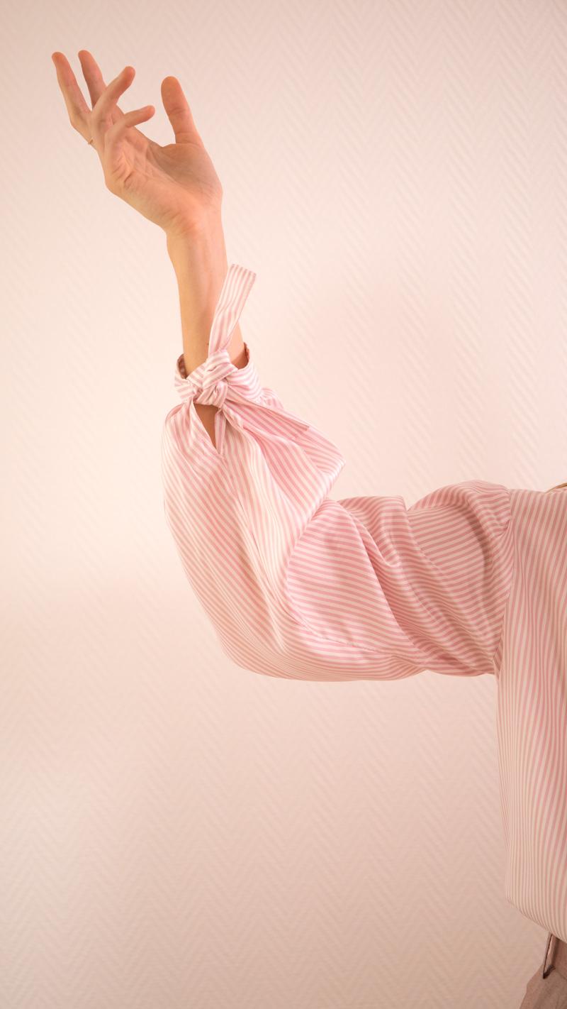 DADA-DIANE-DUCASSE-blouse-bandana-soie-raye-rose-detail