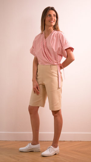 DADA-DIANE-DUCASSE-kimono-popeline-coton-rayure-orange-bermuda-soie-beige-1