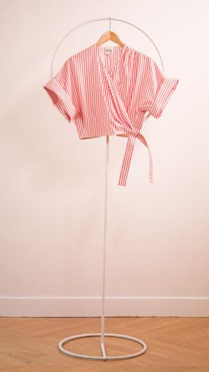 DADA-DIANE-DUCASSE-kimono-popeline-coton-rayure-orange-packshot