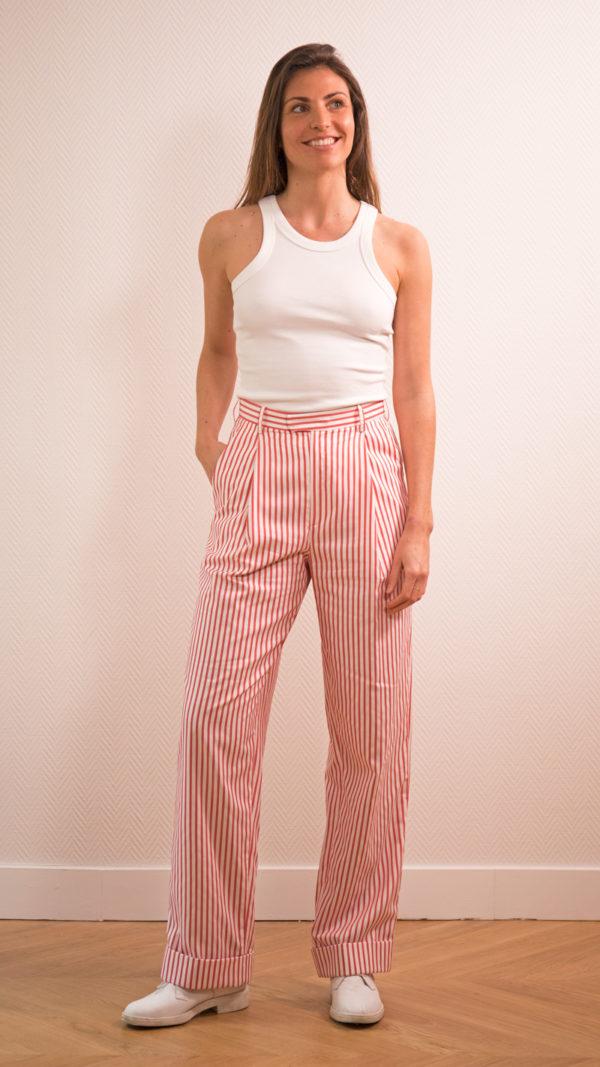 DADA-DIANE-DUCASSE-pantalon-droit-jules-coton-popeline-rayure-orange