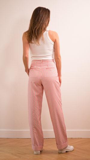 DADA-DIANE-DUCASSE-pantalon-droit-jules-coton-popeline-rayure-orange-dos