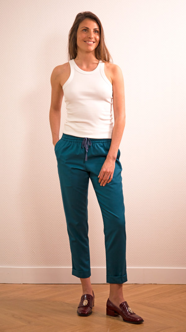 DADA-DIANE-DUCASSE-pantalon-slim-elastique-flanelle-bleu-petrole
