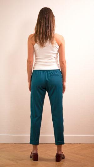 DADA-DIANE-DUCASSE-pantalon-slim-elastique-flanelle-bleu-petrole-dos