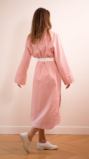 DADA-DIANE-DUCASSE-robe-chemise-oversized-coton-popeline-rayure-orange-3