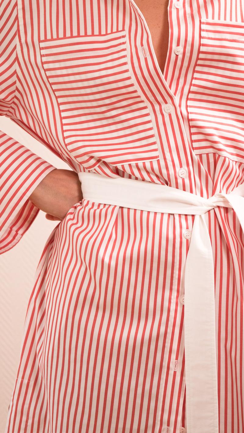 DADA-DIANE-DUCASSE-robe-chemise-oversized-coton-popeline-rayure-orange-detail