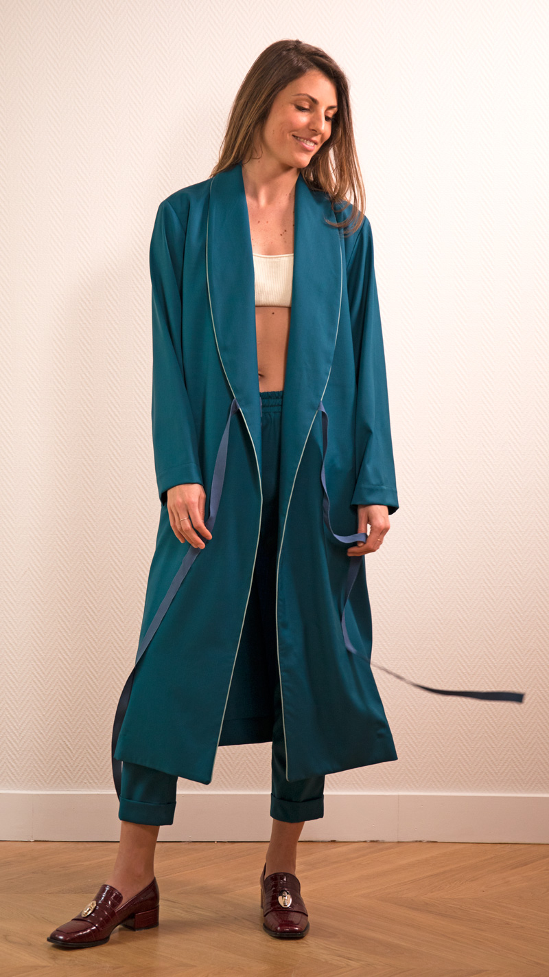 DADA-DIANE-DUCASSE-robe-peignoir-pantalon-slim-elastique-flanelle-bleu-petrole-1