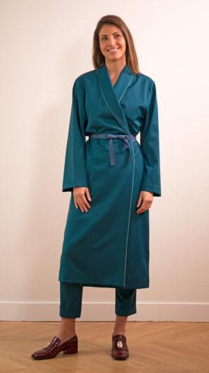 DADA-DIANE-DUCASSE-robe-peignoir-pantalon-slim-elastique-flanelle-bleu-petrole-2