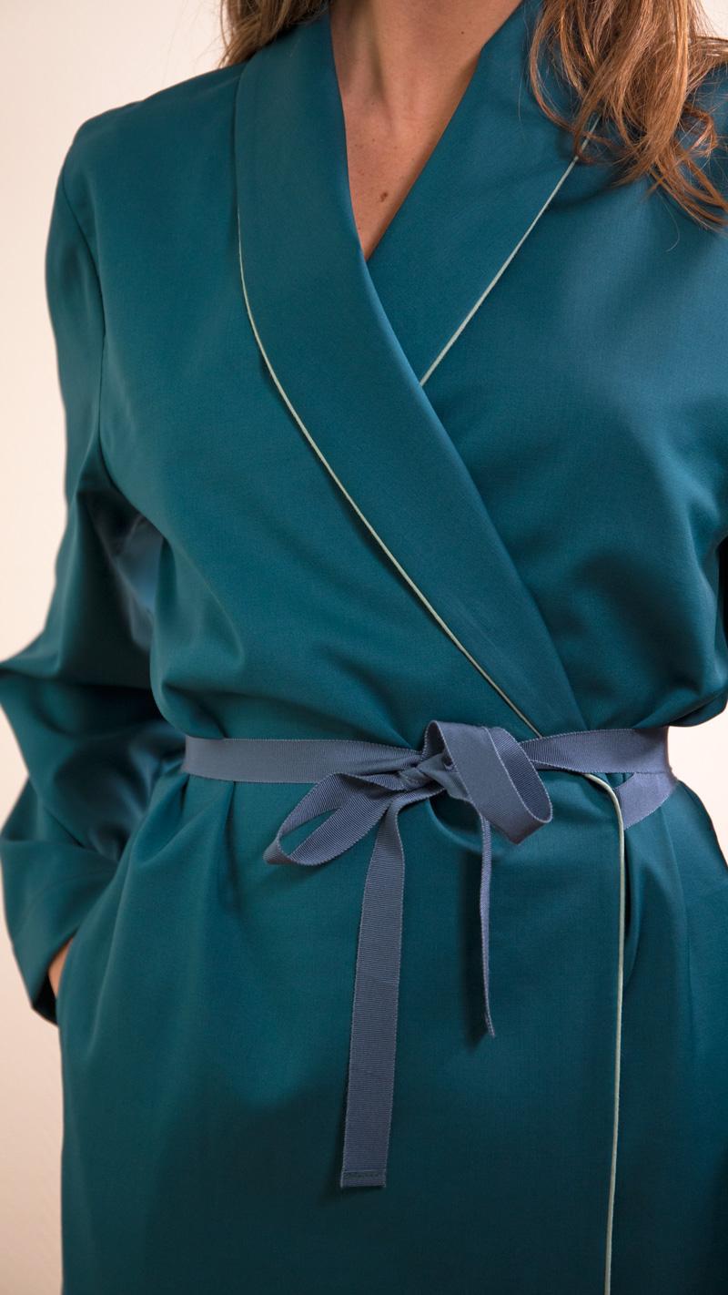 DADA-DIANE-DUCASSE-robe-peignoir-pantalon-slim-elastique-flanelle-bleu-petrole-detail