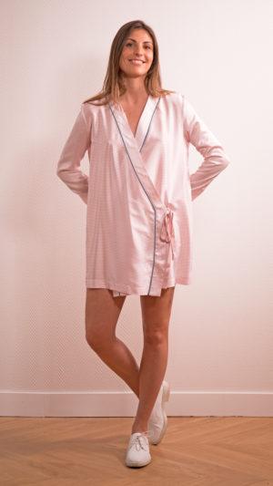 DADA-DIANE-DUCASSE-robe-tunique-soie-rayee-rose-1