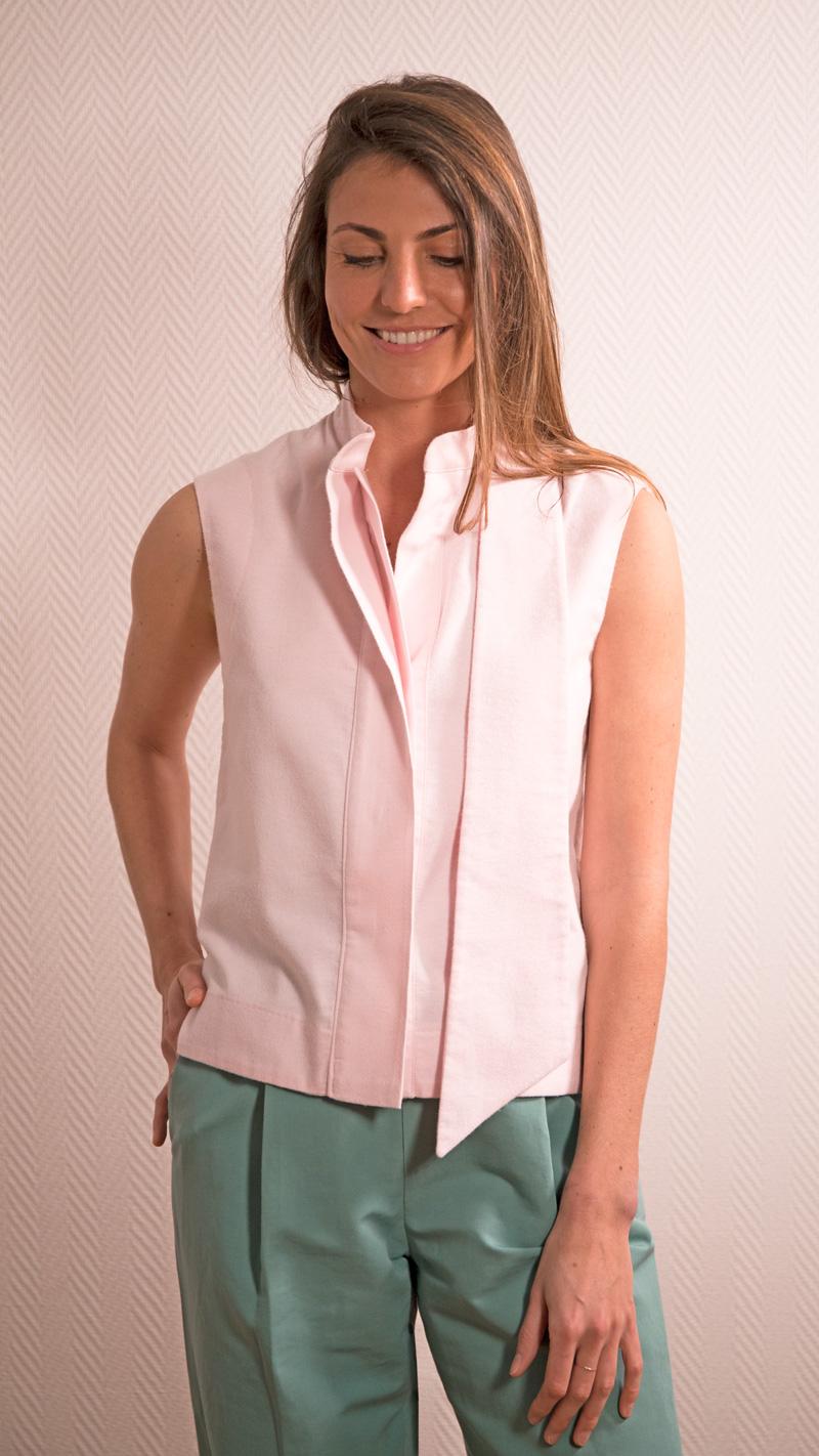 DADA-DIANE-DUCASSE-top-debardeur-pilou-coton-rose-pantalon-droit-jules-lin-menthe-2