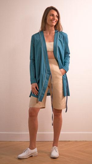 DADA-DIANE-DUCASSE-tunique-robe-bleu-canard-bermuda-coton-soie-beige