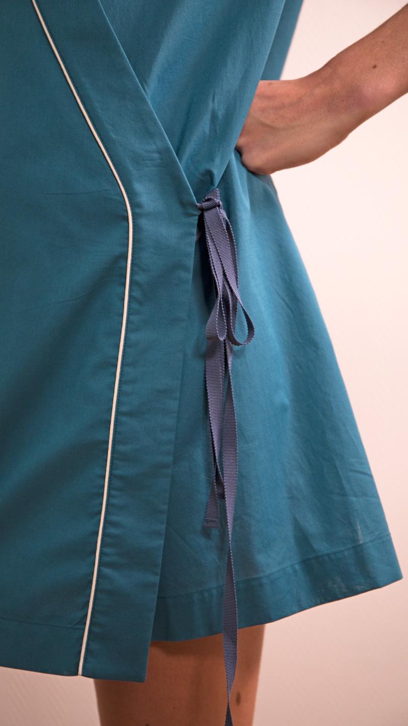 DADA-DIANE-DUCASSE-tunique-robe-coton-bleu-canard-detail