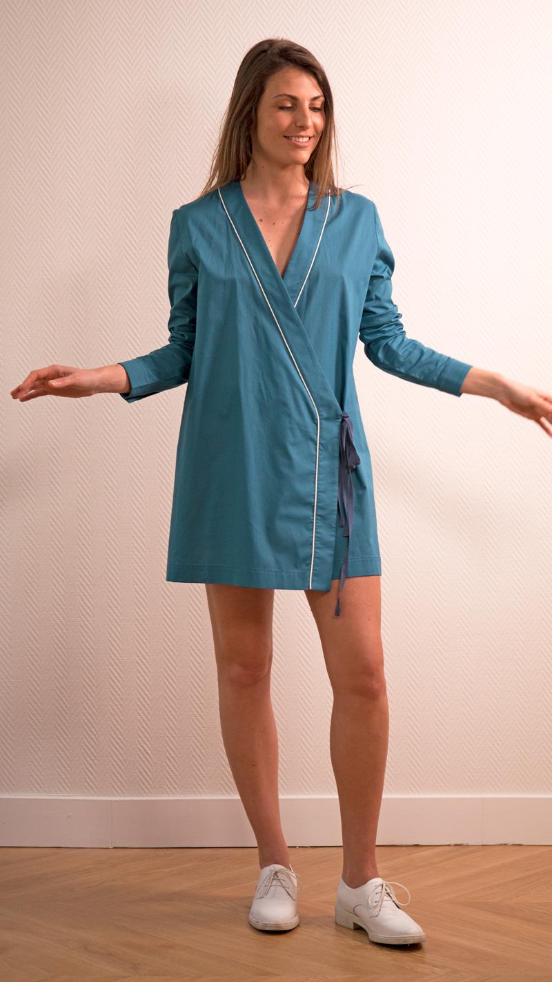DADA-DIANE-DUCASSE-tunique-robe-coton-bleu-canard