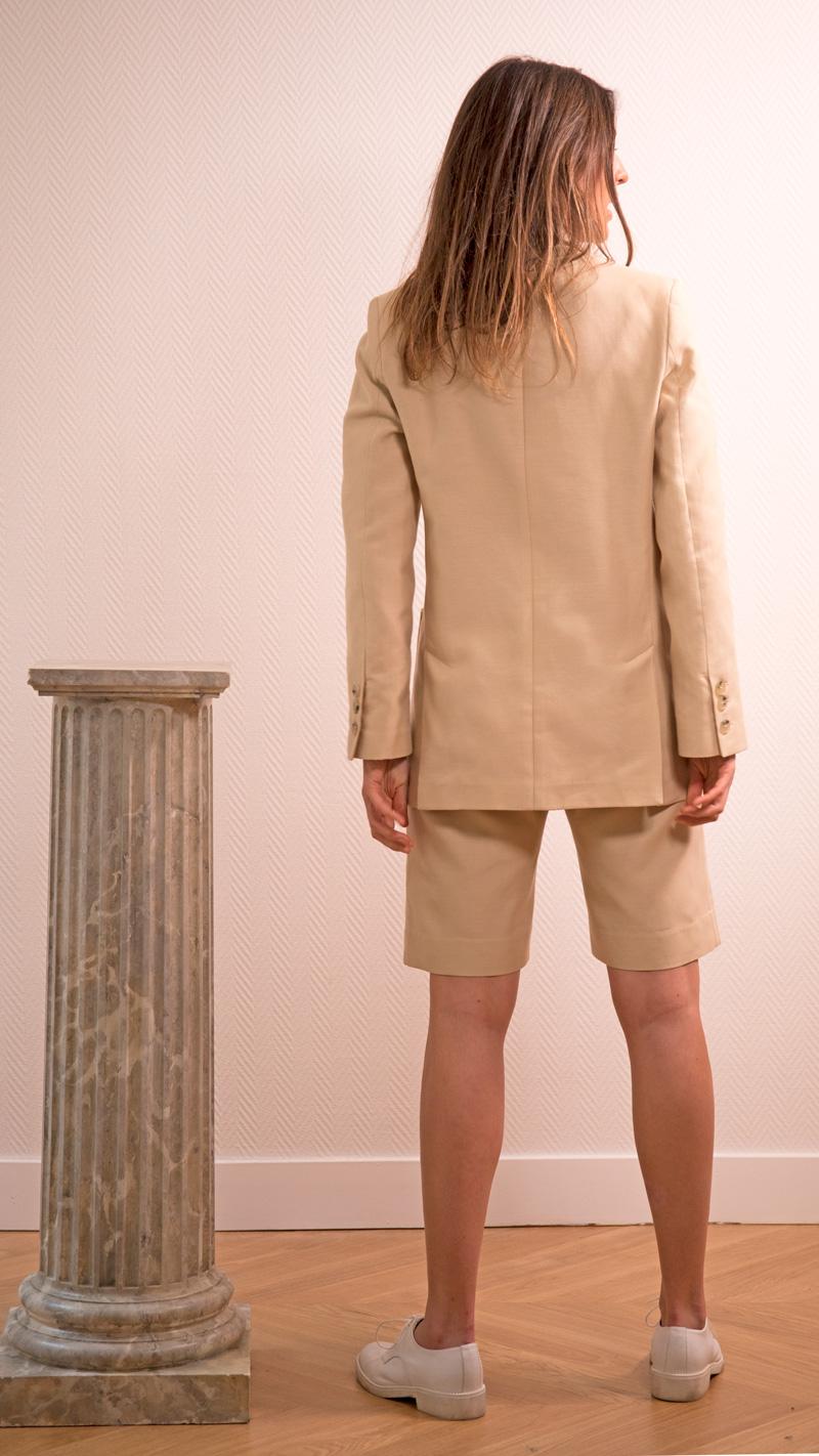 DADA-DIANE-DUCASSE-veste-tailleur-gala-bermuda-coton-soie-beige-dos