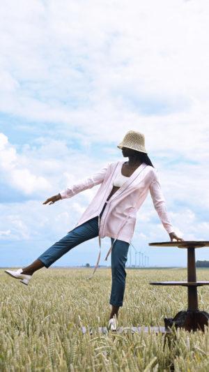 DADA-Diane-Ducasse-PE21-pantalon-pétrole-tunique-soie-rose