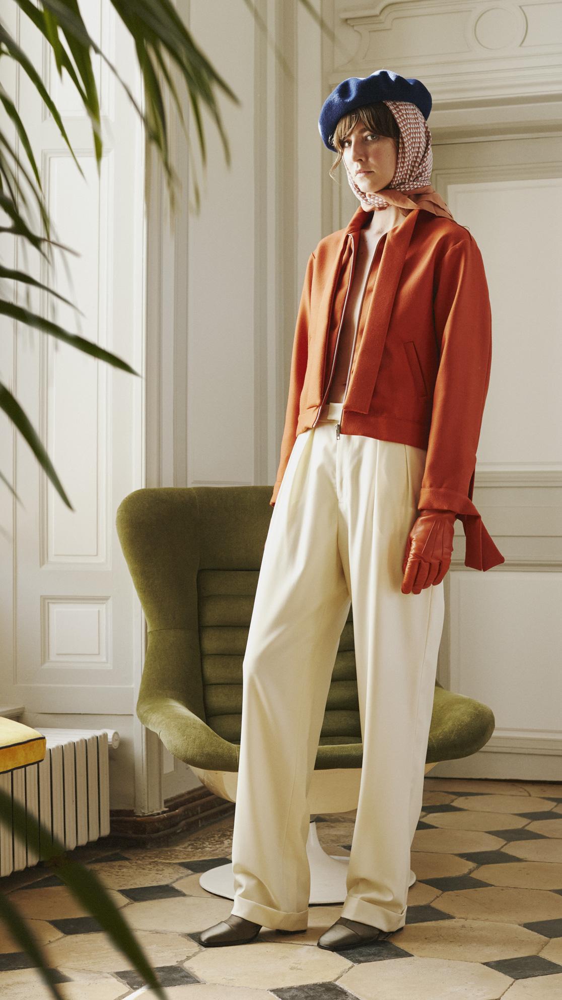 DADA-Diane-Ducasse-AH21-blouson-laine-orange-lavalliere-pantalon-flanelle-ivoire-jules-1