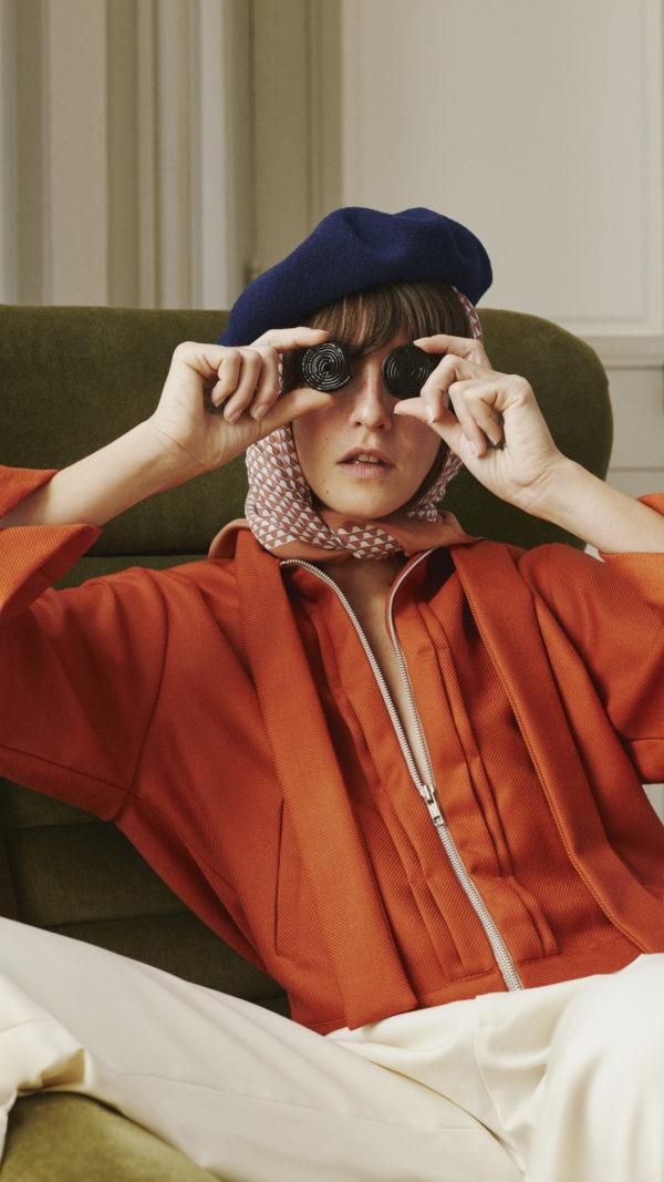 DADA-Diane-Ducasse-AH21-blouson-laine-orange-lavalliere-pantalon-flanelle-ivoire-jules-2