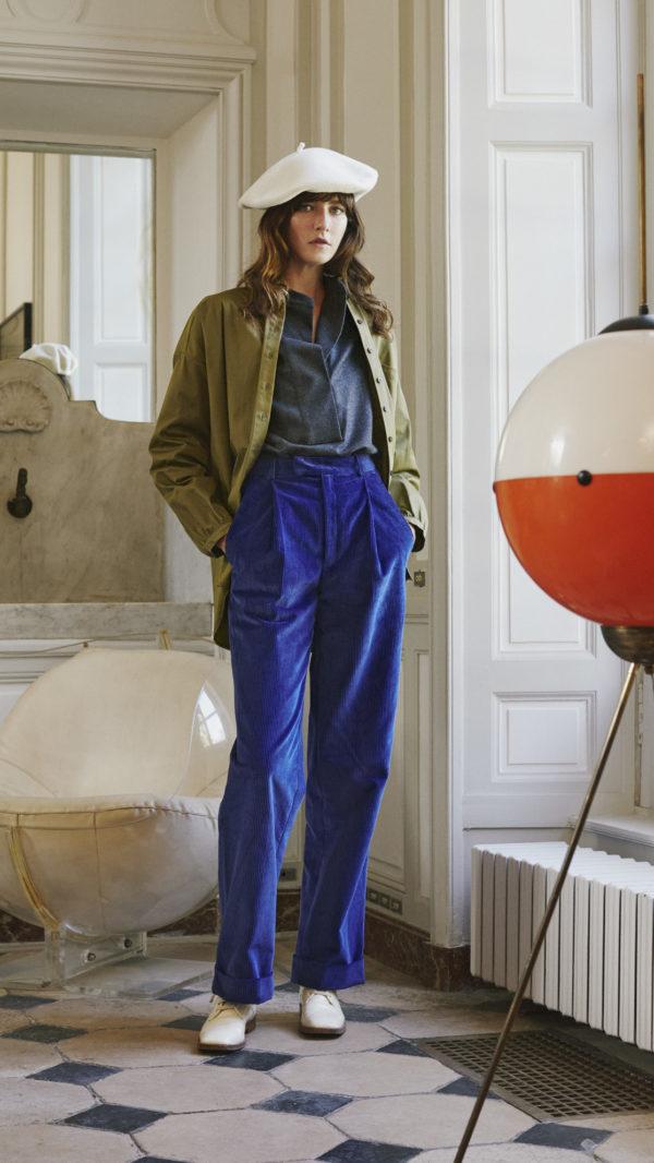DADA-Diane-Ducasse-AH21-chemise-oversized-kaki-polo-anthracite-flanelle-pantalon-jules-velours-bleu