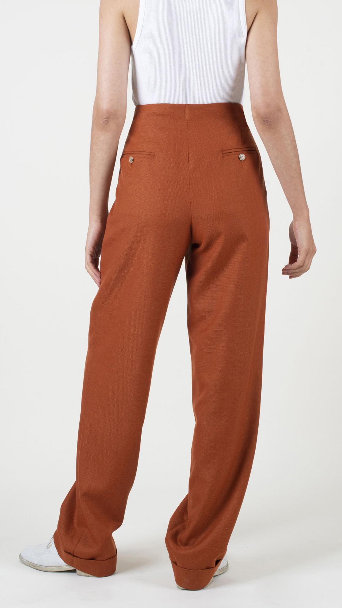 DADA-Diane-Ducasse-AH21-pantalon-droit-jules-laine-orange-dos